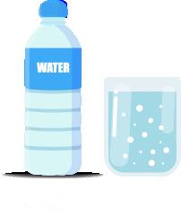 集中力アップドリンク1:水・炭酸水